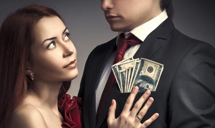 Será que ela só fica comigo por interesse e pra pegar o meu dinheiro?