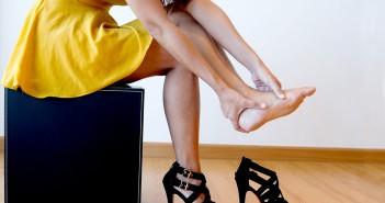 não machucar os pés com sapato novo