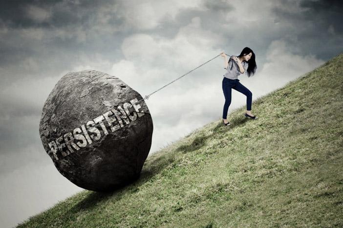 A sutil diferença entre insistência e persistência