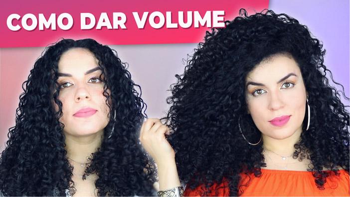 Como dar mais volume no cabelo cacheado